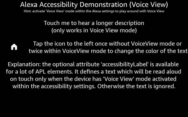 Accessibility Demonstration (Voice View Demo)